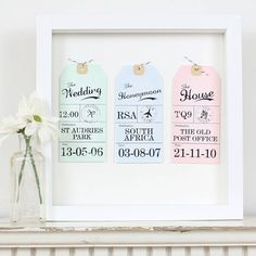 Memory Luggage Tags Anniversary, maybe for me and Ben (luggage tag connection)
