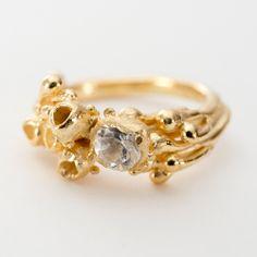 Flat Seaweed Ring by Sarah Brown Jewellery