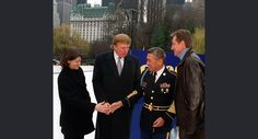 "1999: First American woman in space Sally Ride, left, shakes the hand of Master Sergeant Stanley Kamiya as Donald Trump, second left, and Wayne Gretzky, right, look on in New York's Central Park Monday Dec. l3, l999. Kamiya, of San Francisco, won a car in an essay contest called ""Most Gripping Moment Of My Life,"" judged by Ride, Trump and Gretzky."