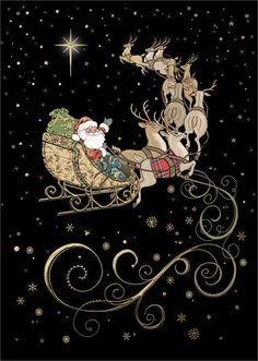 Santa's Team - Bug Art greeting card