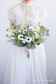 アネモネ野花 ナチュラルクラッチブーケ Wedding Bouquets, Bridal, Party, Flowers, Color, Floral Arrangements, Bride, Florals, Brides