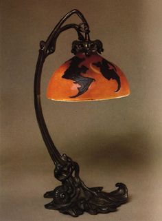 "fleurdechair: "" This lamp was custom designed according to Robert de Montesquiou's eccentric specifications. Bats! """