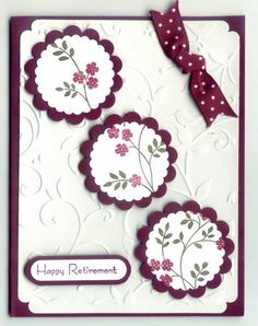 Rich Razzleberry Circles for Retirement by csmilham - Cards and Paper Crafts at Splitcoaststampers