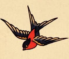 Sailor Jerry inspired sparrow. thinking about a pair of them as part of a chest piece.