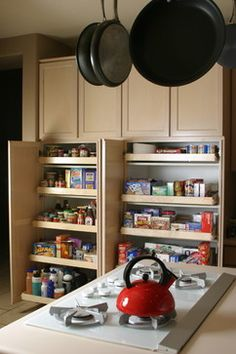 Pullout shelf - traditional - kitchen cabinets - phoenix - by The Pullout Shelf Company. Pantry