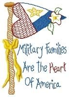 Military Families Sampler 5x7 | Primitive | Machine Embroidery Designs | SWAKembroidery.com HeartStrings Embroidery