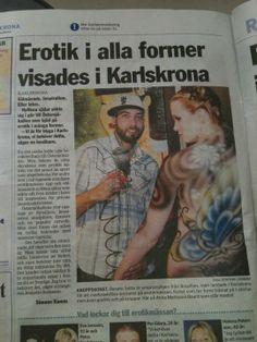 Jornal da cidade de Karskrona, Suecia 2010