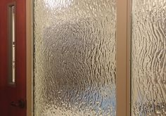 """Kindred Hospital - Houston, TX  Glass Description:  Glass Privacy Wall  1-1/4"""" Clear Tempered Glass Units  Texture: MD231 Anime  Fire-Rated for 45 minutes"""