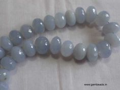 What about a pink evening gown with this marvelous chalcedony necklace and bracelet, catch before someone else steal the deal!!  http://gembeads.in/gems-tumble-rondelle-beads