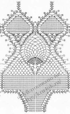 Fabulous Crochet a Little Black Crochet Dress Ideas. Georgeous Crochet a Little Black Crochet Dress Ideas. Motif Bikini Crochet, Crochet Bra, Crochet Diagram, Crochet Blouse, Crochet Chart, Crochet Clothes, Crochet Stitches, Crochet Designs, Crochet Patterns