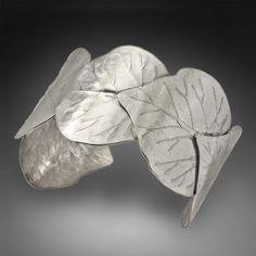 Love this sterling leaf cuff!     Cincinnati Spring by babejewelryuniqueasu on Etsy