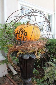 Tallgrass Design, fall container garden, container gardening, pumpkin decor