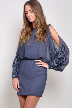 TFNC Rosyka Batwing Dress