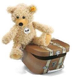 Ours teddy Charly et valise classique Steiff-Peluche.fr - La Boutique des peluches STEIFF en France #teddy #nounours #doudou