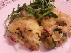 Zapečený ružičkový kel so strúhanými zemiakmi (fotorecept) - Recept