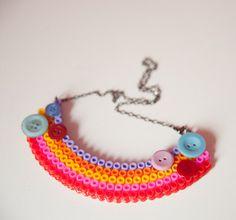Perler Beads Plastic Pendant.