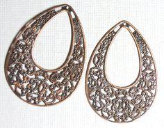 Supplies Flower Dangles Antiqued Copper by SpiritCatDesigns, $1.00