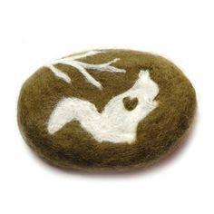 felted soap - merino wool to exfoliate with white tea ginger soap inside