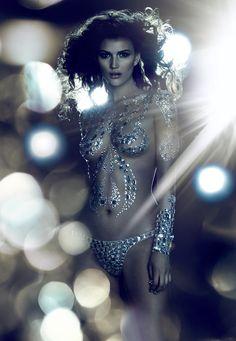 Tara Gill Shines in Fashion Cares 25th Anniversary Campaign by Chris Nicholls