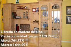 libreria madera de pino