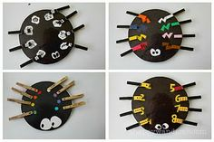 Clothespin Spiders