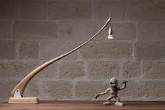 lucignolo wood lamp