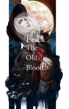 Bloodborne and the doll. Dark Fantasy, Fantasy Art, Anime Manga, Anime Art, Vocaloid, Soul Saga, Bloodborne Art, Dark Souls Art, Old Blood
