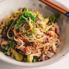 Sichuan Pork & Peanut Noodles
