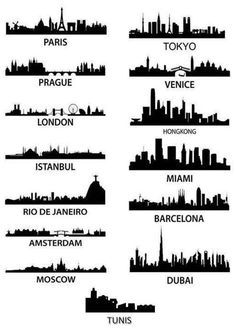 Prague skyline for a tattoo. Prague will be the of these cities I have been to.but NO tattoo for me! Dubai, Paris Tokyo, Skyline Tattoo, Miami, City Tattoo, I Want To Travel, Oh The Places You'll Go, Prague, Best Funny Pictures