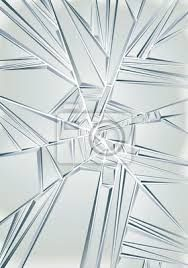 Image result for glass shattered in a cone way