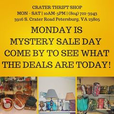 Come by to see what's on sale today! #buylocal #thriftstore #thriftshop #tricities #petersburgva