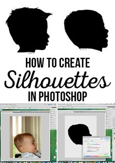 How-to create Silhouettes in Photoshop for Mother's Day via @craftingchicks