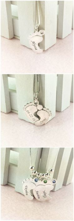Moms love anything that celebrates their children, which is why they are sure to love Mom Jewelry - Personalized Baby Feet Necklace. Come and discover more at Getnamenecklace.com
