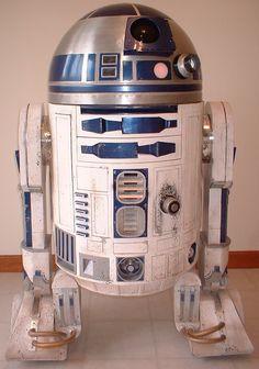 My very first 1:1 R2-D2. By Kelly Krider. R2 Builders Club.