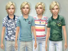 The Sims Resource: Printed Polo Shirts by lillka • Sims 4 Downloads