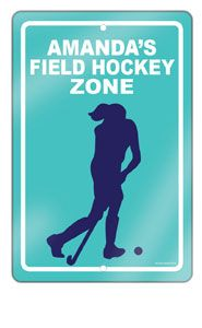 Field Hockey Sports Fundraising Car Magnets Or Stickers Field - Custom field hockey car magnets