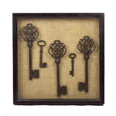 Vintage key shadow box