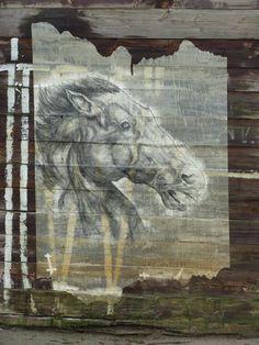 Amazing street art stencil by Armsrock