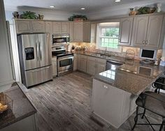 Small Kitchen With Peninsula And Recessed Lighting Over Kitchen Cabinets 20 Best Small Kitchen Designs, Small Modern Kitchen Design, Small Kitchen Colors Kitchen Ikea, New Kitchen, Kitchen Small, Kitchen Interior, Apartment Kitchen, Country Kitchen, 1950s Kitchen, Small Kitchen Designs, Kitchen Sinks