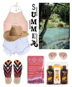 """""""Summer Pool Time:  County Edition"""" by tammy-gardner on Polyvore featuring River Island, One Teaspoon, Havaianas, Hawaiian Tropic, Ray-Ban, Vera Bradley, Roxy, summertime, pool and swimming"""