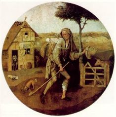 Hieronymus Bosch - The Pedlar (Museum Boijmans Van Beuningen) ヒエロニムス・ボス Rembrandt, Hieronymus Bosch Paintings, List Of Paintings, Saint Jean Baptiste, Catalogue Raisonne, Jan Van Eyck, Arte Tribal, Prodigal Son, Dutch Painters