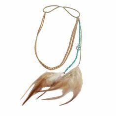 Gevlochten hoofdbandje met veren en kraaltjes in Ibiza stijl. Dit hoofdbandje is super voor de zomer. Draag 'm voor een boho touch of om je kapsel helemaal in f