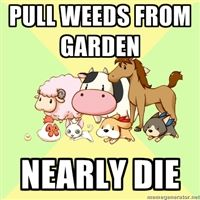 I swear, you start with so little stamina in Harvest Moon