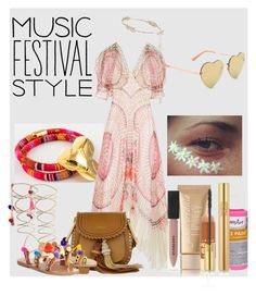 """""""Music Festival Style!"""" by artteca ❤ liked on Polyvore featuring Temperley London, Chloé, Jane Iredale, L.A. Girl, Burberry, Rosantica, GET LOST, Aéropostale, Elina Linardaki and Yves Saint Laurent"""