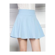 Chic Candy Color Plain A-Line Mini Skater Skirt ($26) ❤ liked on Polyvore featuring skirts, mini skirts, flared skirt, mini skater skirt, a line flared skirt, a-line skirts and circle skirt
