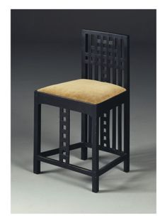 sidechair, c. 1905-10 by Charles Rennie Mackintosh