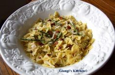 Asparagus and Saffron Farfalle   In less than 30 minutes you can have a main meal or a side dish with this light Asparagus and Saffron Farfalle. We had it as a main meal tonight, however it will accompany well any fish or chicken dish.