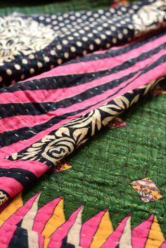 Kantha quilt large: 2 by Asma