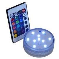 Submersible Lights | Matchless Candles R C Submersible Uplighter RAINBOW light