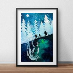 Stranger Things Television Art Watercolor Painting Poster